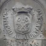 Escut de Sant Gervasi a la font de la plaça Molina