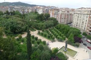 Turó Park desde el aire